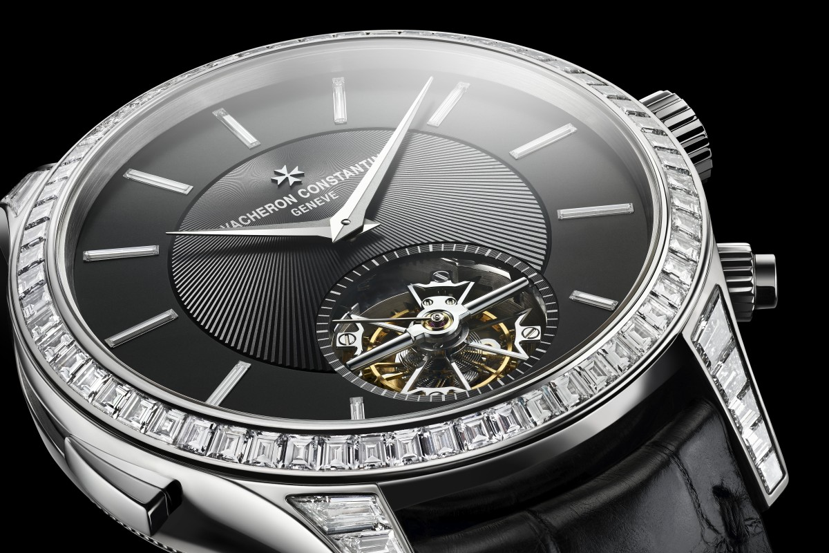d78e1207e09 Les Cabinotiers Sky Chart Minute Repeater Tourbillon features diamonds on  the bezel and lugs.