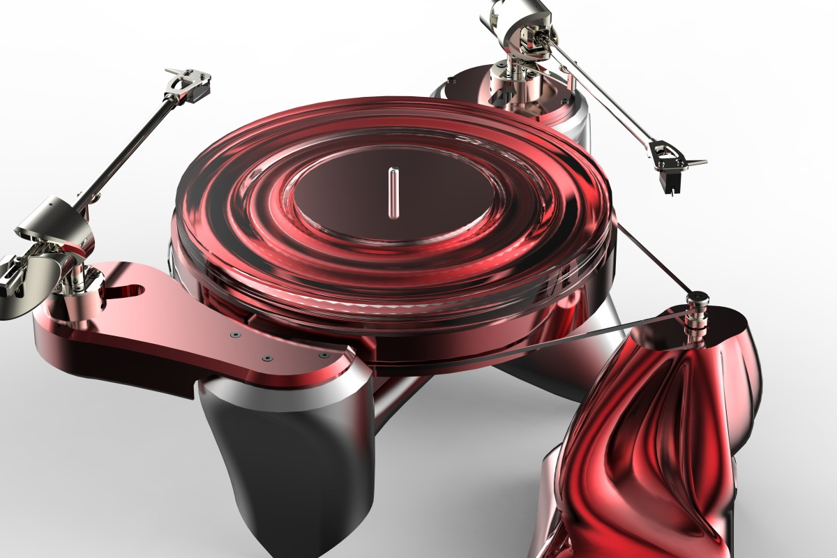 c31fb9e53d5 A futuristic turntable from Metaxas & Sins. It is part of the metaxas  tatement that