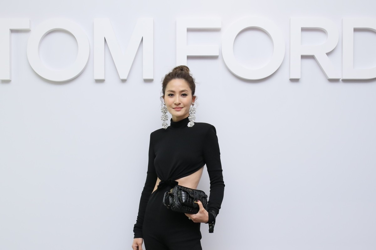 6e1218bf3bfb6 Kathy Chow attends the reopening of the Tom Ford boutique at IFC Mall.