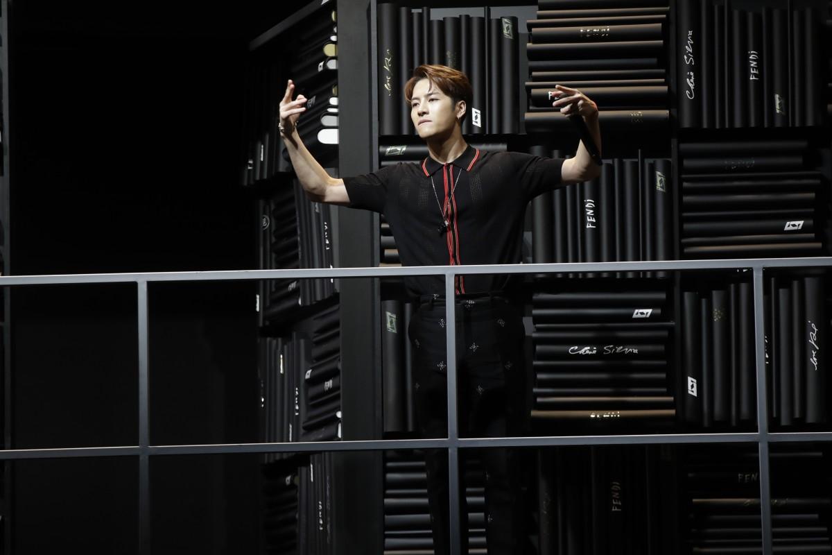ba9ed9e28c6 Chinese rapper Jackson Wang performs for Fendi at Milan Men's ...
