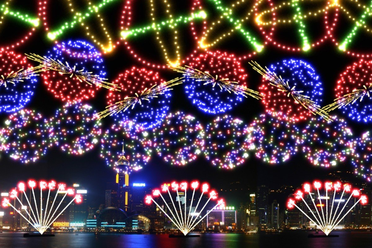 Wow Lunar Festival 2020.Lunar New Year Fireworks In Hong Kong Rings Of Saturn And