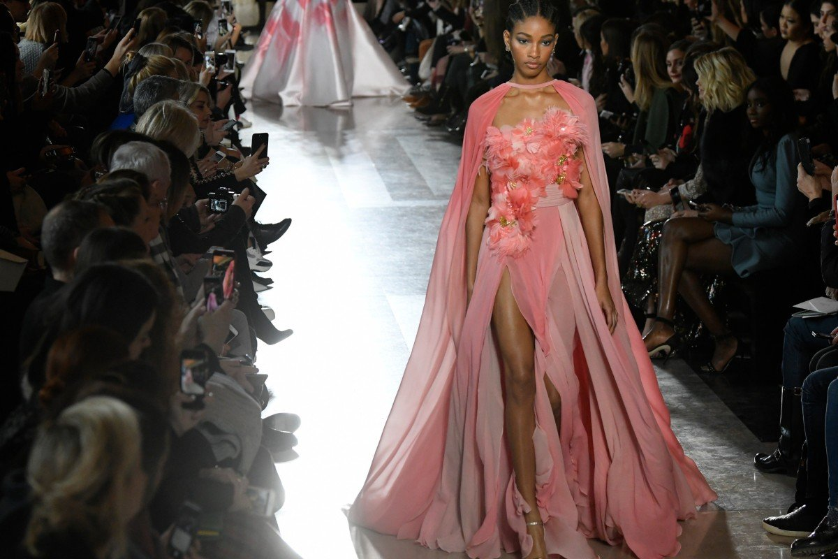 e602cfb3f4 Paris Haute Couture 2019: Elie Saab's kaleidoscopic collection ...