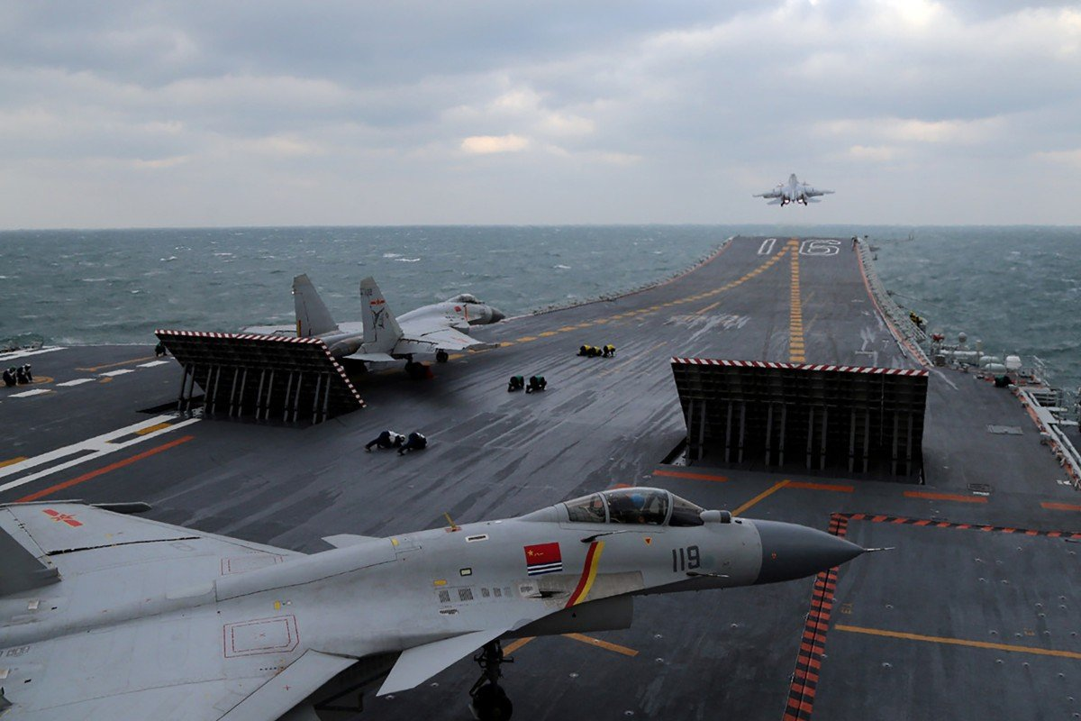 China's first aircraft carrier may become test bed for top flight