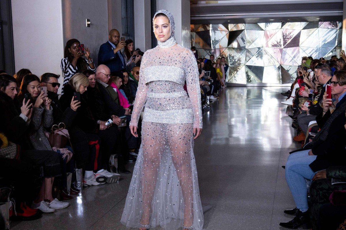 de003b64388 Model Ashley Graham on the runway during Christian Siriano's show at New  York Fashion Week.