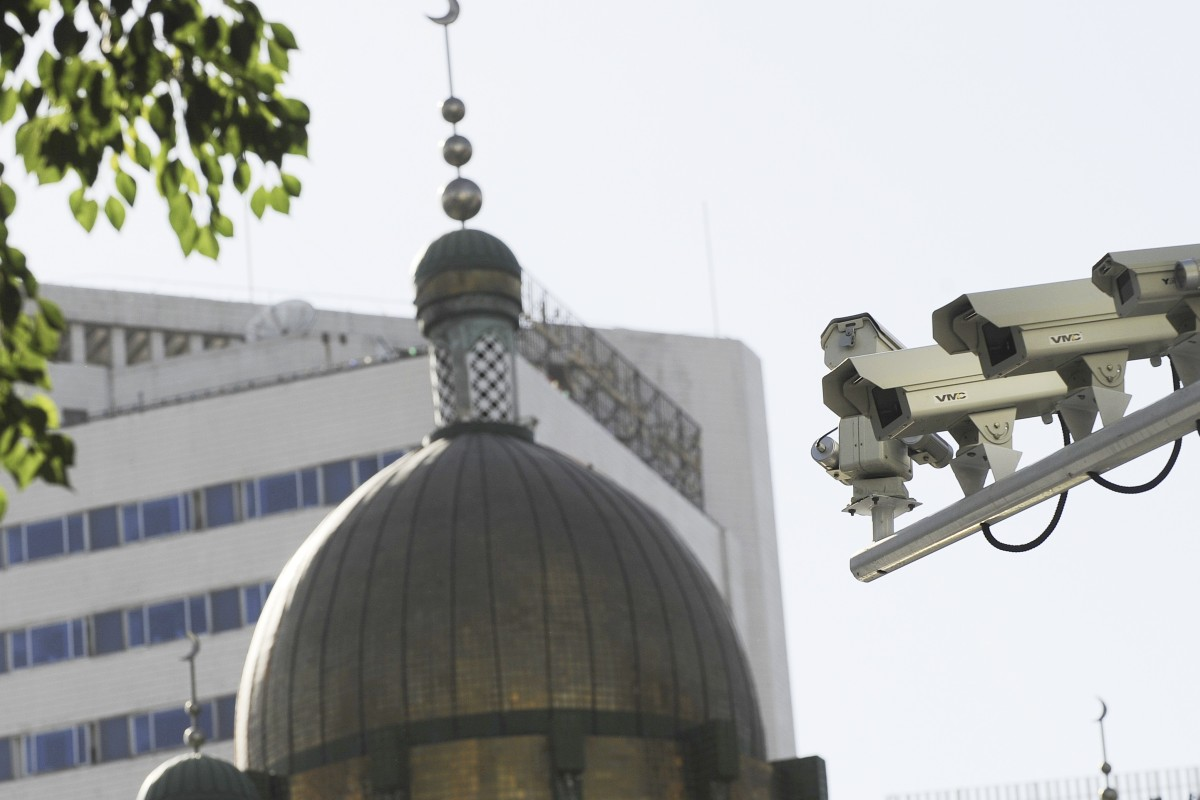 The Chinese government has ramped up personal surveillance in Xinjiang over recent years. Photo: AFP