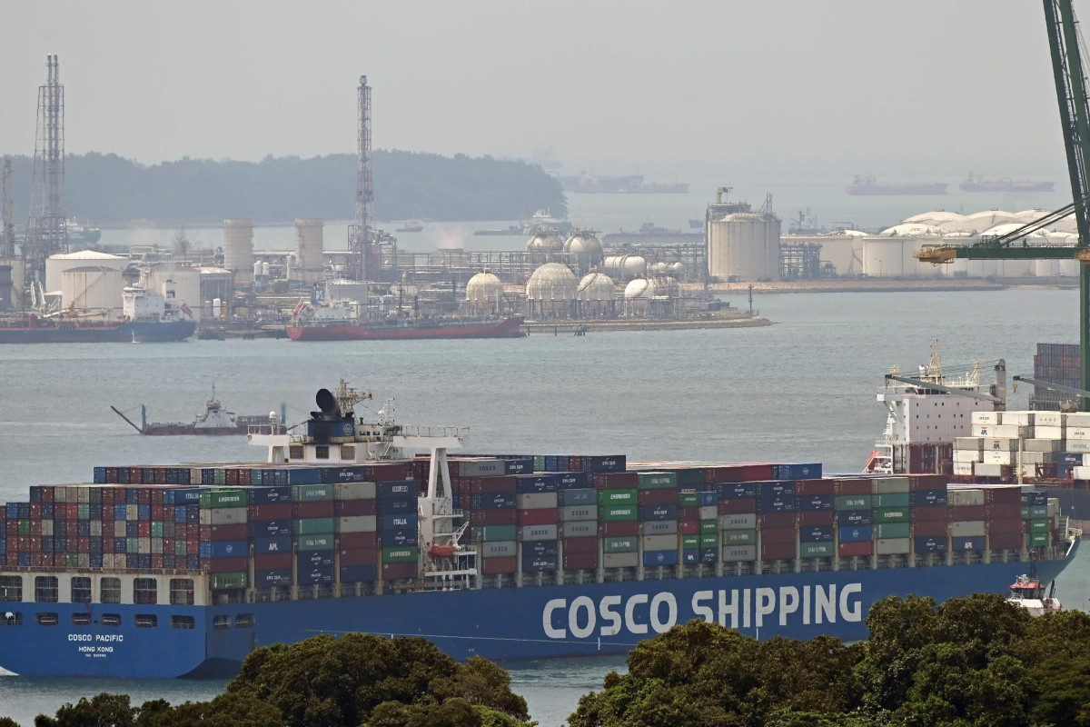 Across the board, Singapore's non-oil exports plunged 10.1 per cent in January, the third successive monthly decline, while oil exports fell by 3.2 per cent overall. Photo: AFP
