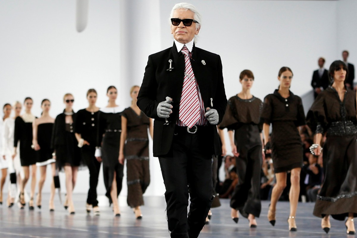 f6084826671 File photo of German designer Karl Lagerfeld at the end of his  Spring/Summer 2013