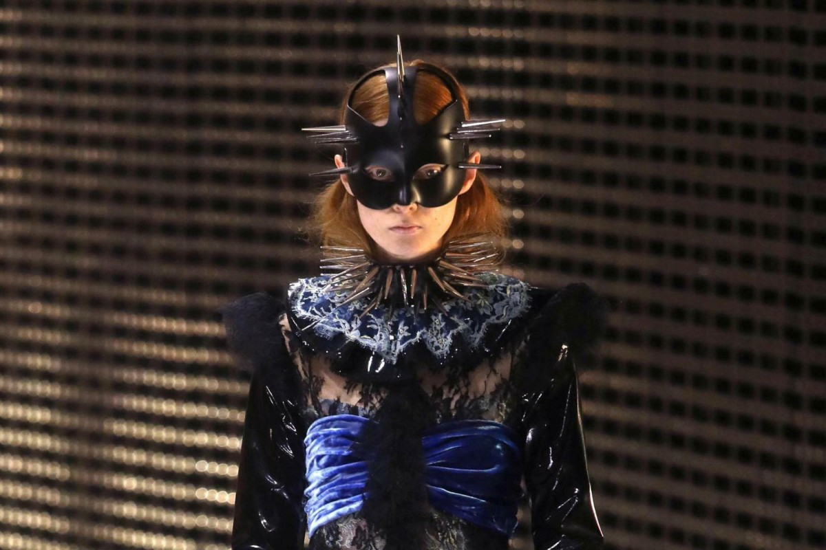 695789e35 Masked models were a feature of Gucci's fall/winter 2019/20 women's  collection show