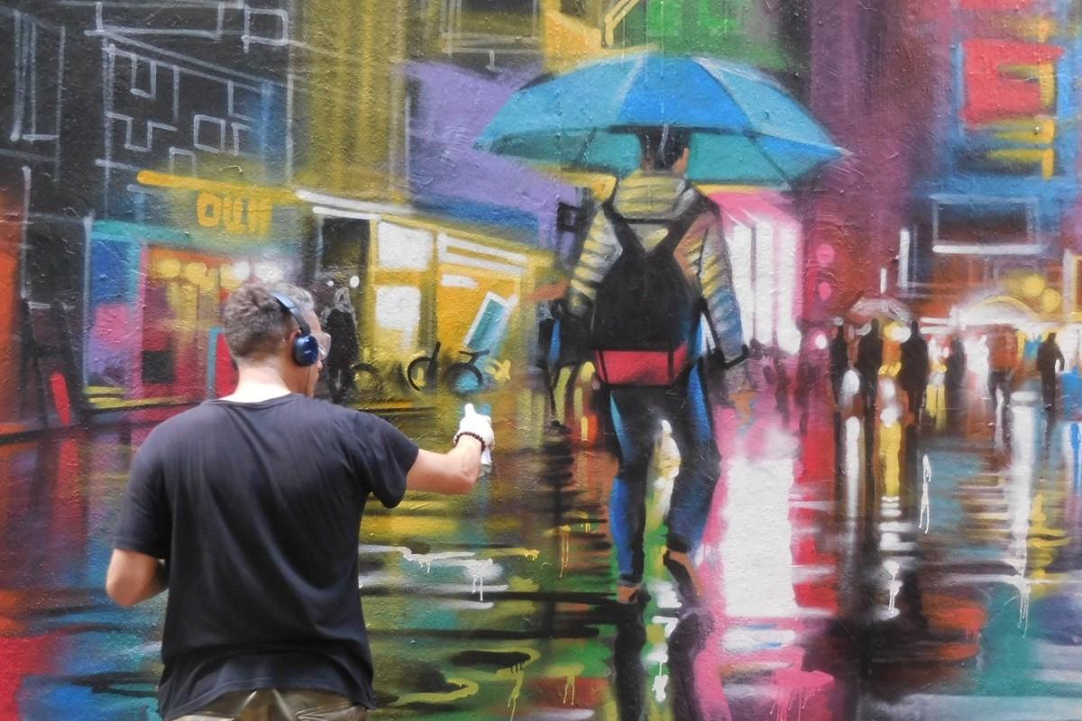 Hong Kong's old neighbourhoods get a new look as street art takes