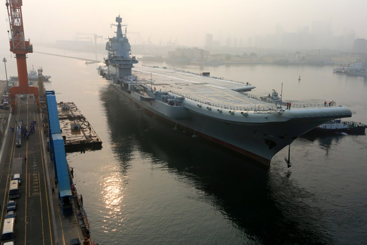 China's first domestically built aircraft carrier, the Type 001A, will undergo major tests as it enters the final phase of preparations before it is commissioned. Photo: Reuters
