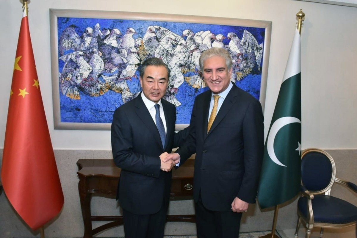 6e9471da0e Pakistan's Foreign Minister Shah Mehmood Qureshi (right) appealed to his  Chinese counterpart Wang Yi
