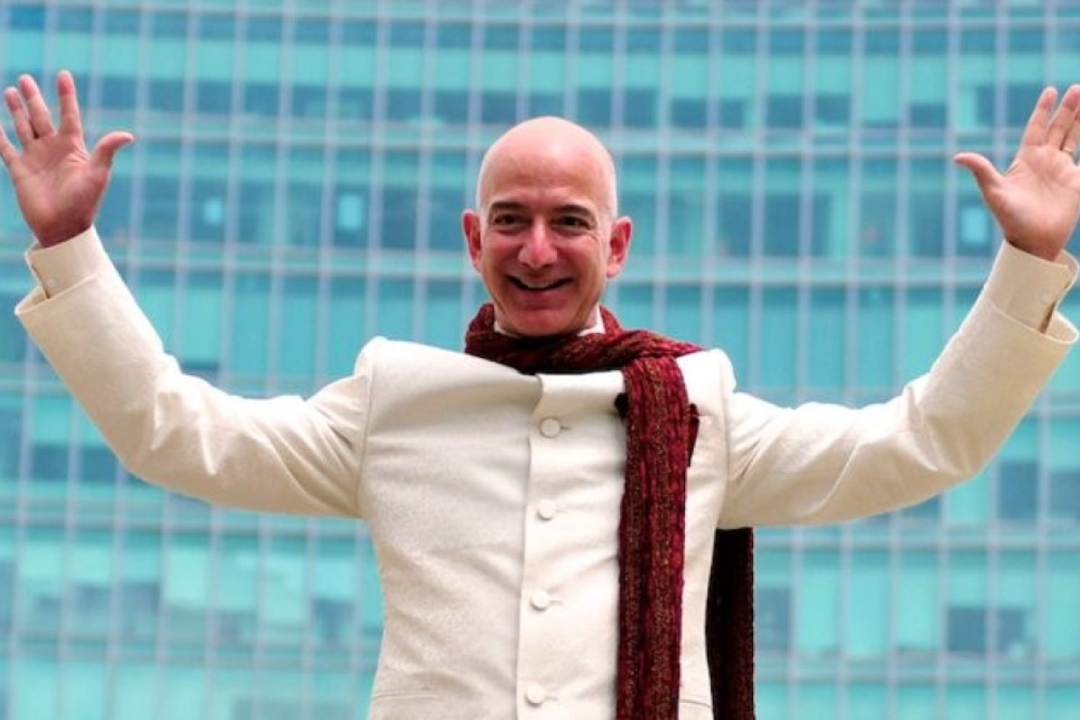 0a99768c8 Jeff Bezos, founder and CEO of Amazon, topped the list of the world's  richest