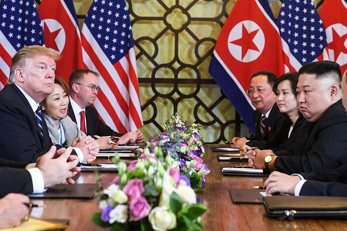04338e48a73 The summit between US President Donald Trump and North Korea s leader Kim  Jong-un ended