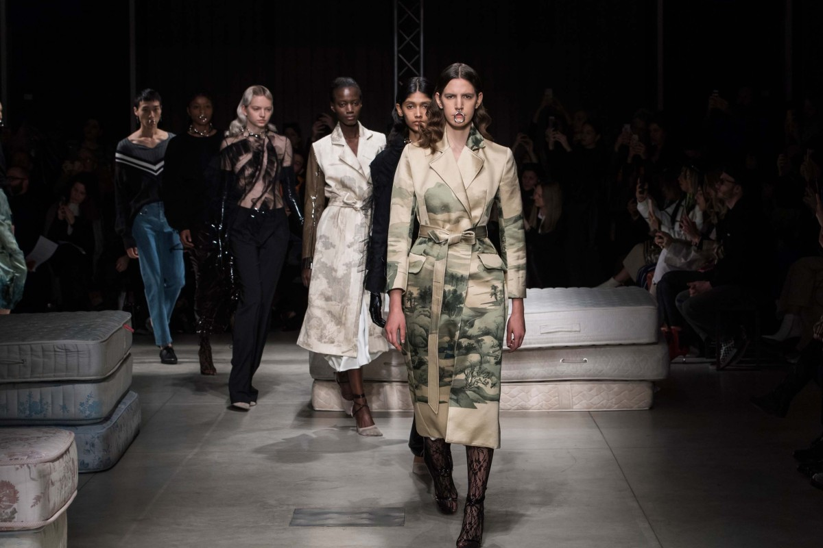 c72bc61b5fe3 Models walk the runway at Act N°1 s autumn-winter 2019 show in Milan