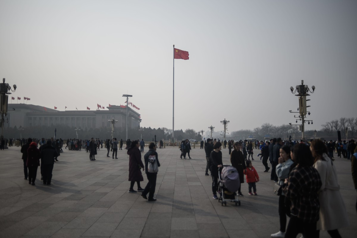 An orange pollution alert will stay in place in Beijing throughout Sunday and Monday. Photo: AFP