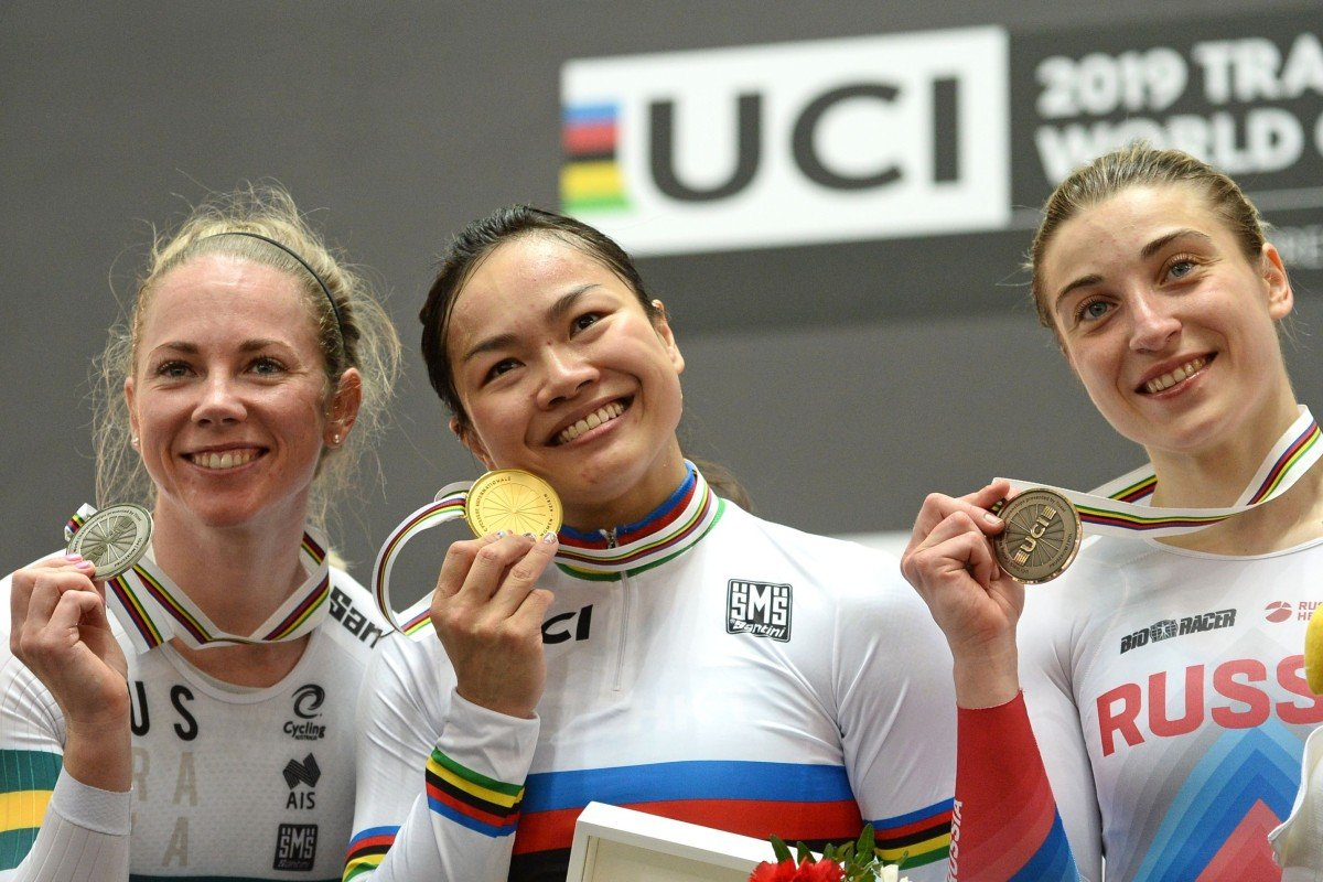 a45127cc39e From left, silver medallist Kaarle McCulloch of Australia, gold medallist  Sarah Lee Wai-