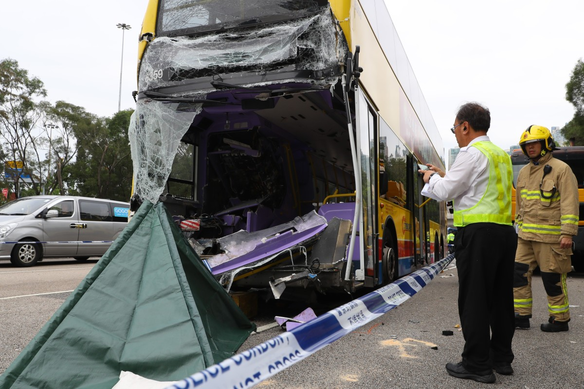 Two dead, 16 injured after Citybus double-decker crashes into truck