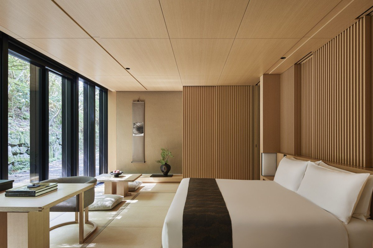 The 24 rooms and two villas at Aman Kyoto have been designed by Kerry Hill Architects.