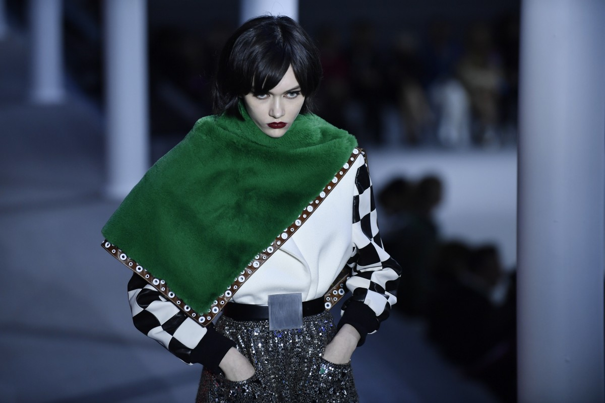2e660b2f70 Russia model Sofia Steinberg presents creations by designer Nicolas  Ghesquière from his Louis Vuitton autumn/