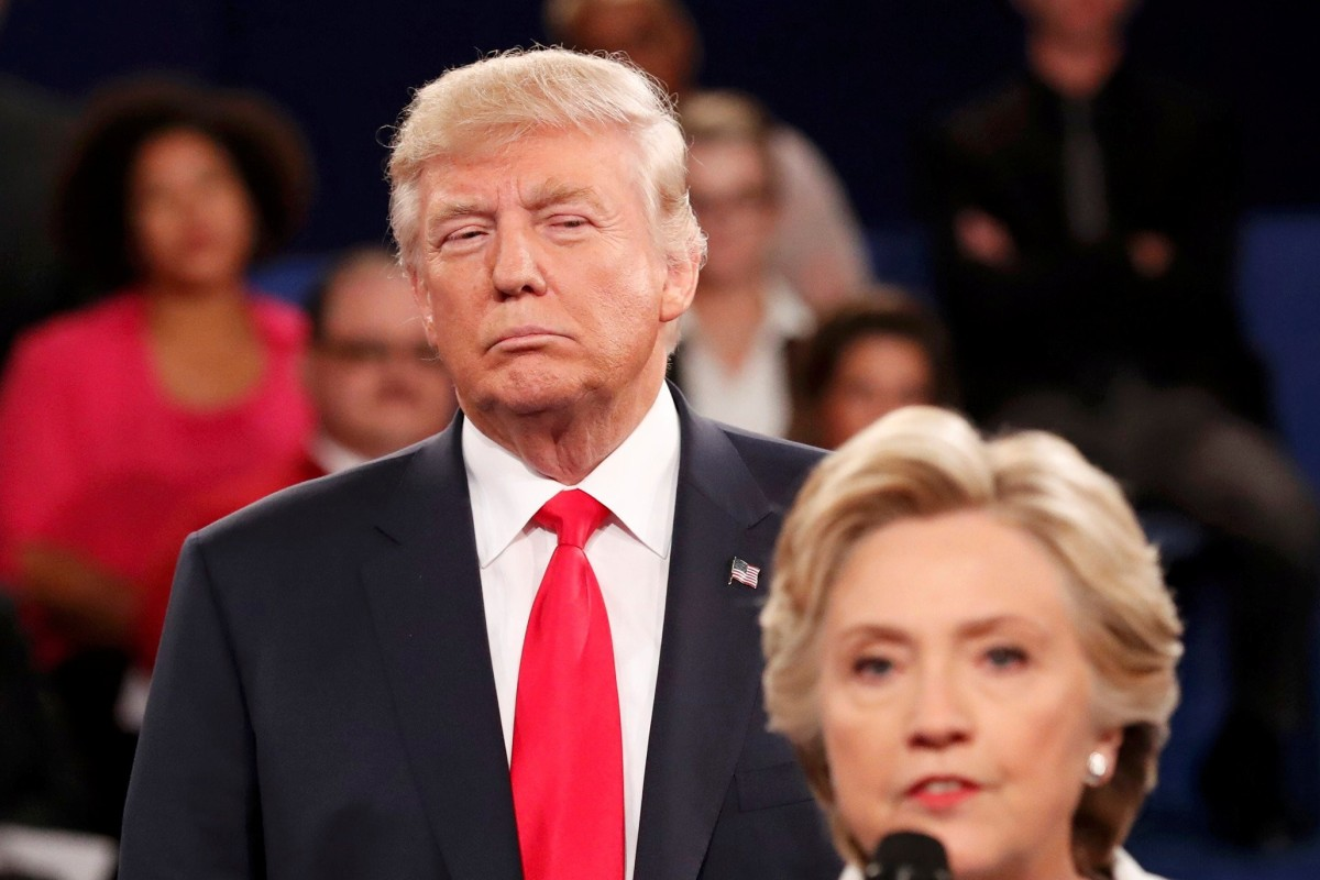 Donald trump and hillary clinton during one of their debates in 2016 file photo