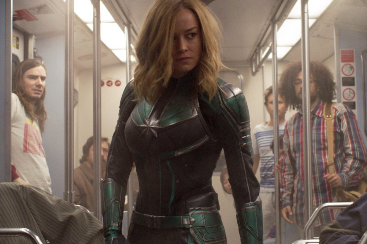 6ebe4b543cec Actress Brie Larson, performed most of her own stunts as superhero Captain  Marvel. Photo