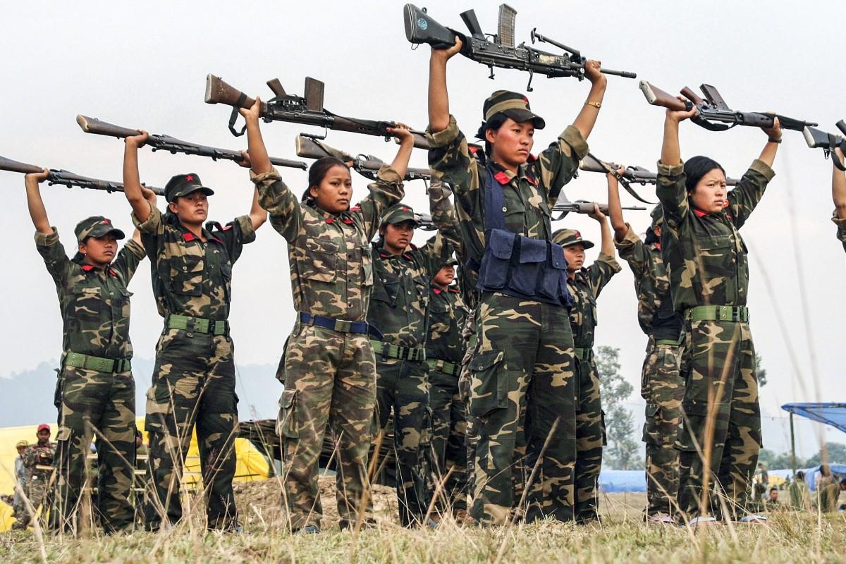 75d864d75e5aca Maoist rebel women soldiers perform a drill in Jhapa district, about 575km  east of Kathmandu
