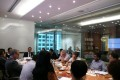 Delegates attend a seminar on the requirements and possible problems in setting up a company in China.