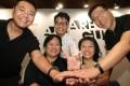 Local artists (from left) Chow Chun-fai, Leung Mee-ping, Hung Lam Wai-hung, Bella Ip Chi-kiu and Eddy Yu Chi-kong. Photo: Edward Wong