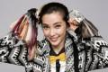 Li Bingbing with hair colour samples.