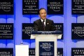 Premier Wen Jiabao speaks to the World Economic Forum in Tianjin, sounding confident of keeping the economy on a track of steady and relatively fast growth. Photo: AP