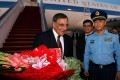 US Defence Secretary Leon Panetta is welcomed by China's Chief of the General's Staff Ma Xiao Tian and US Ambassador to China Gary Locke at Beijing International Airport on Monday. Photo: AFP