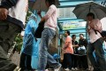 Jobseekers attend a job fair in Tin Shui Wai. Photo: Jonathan Wong