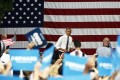 US President Barack Obama campaigns in Columbus, in crucial swing state Ohio, on Monday. Photo: AFP