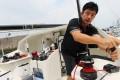 Guo Chuan aboard his 40-foot Qingdao yacht. Photo: May Tse