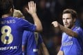 Chelsea's Mata celebrates his second goal against Nordsjælland. Photo: AFP