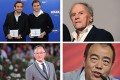 The Oscars foreign long-list includes (clockwise, from top left) Eric Toledano and Olivier Nakache, Michael Haneke, Chen Kaige and Johnnie To. Photo: AFP
