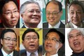 Eight of the Legislative Council's dwindling band of pro-business lawmakers (clockwise from above left): Chan Kin-por; Vincent Fang Kang; Lam Tai-fai; Frankie Yick Chi-ming; Wong Ting-kwong; James Tien Pei-chun; Jeffrey Lam Kin-fung; and Andrew Leung Kwan-yuen.