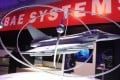 The BAE Systems company stand at the Farnborough International Airshow in England. Photo: EPA
