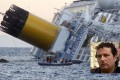 The Costa Concordia keeled over in the sea off the west coast of Italy after it crashed. Insert, the ship's captain Francesco Schettino. Photos: EPA, AP