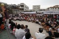 Residents of Wukan village in Lufeng, Guangdong province, gather to protest a land grab in September last year. Photo: Reuters