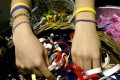 More than 80 million bracelets have been sold to support Lance Armstrong's charity to battle cancer. Photo: AFP