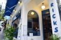 The classic blue and white exterior of Ricks Greek Bar, in SoHo. Photos: Warton Li