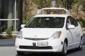 A driverless car on a test run in California. Photo: AP