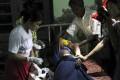 Rakhine refugees receive medical treatment at Kyauktaw hospital in Kyauktaw, Rakhine state, western Myanmar. Photo: AP