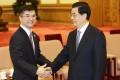 US Ambassador in China Gary Locke (left) with President Hu Jintao in May. Photo: Reuters