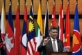 Asean's Secretary General Surin Pitsuwan speaks during the opening ceremony of Asean Integration Development Cooperation Forum on Monday. Photo: Xinhua