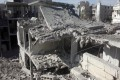 Air strikes continued yesterday with targets inside Damascus. Photo: AFP
