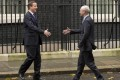 British Prime Minister David Cameron doesn't see eye to eye with European Council President Herman Van Rompuy on the EU. Photo: Reuters