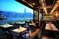 AL MOLO RESTAURANT HAS A BUSY ATMOSPHERE AND GREAT VIEWS OF HONG KONG ISLAND, WHEN THE QUAY IS EMPTY