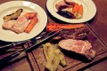Pork knuckle with roasted vegetables at The Salted Pig